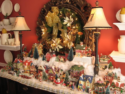 Christmas Villages.Christmas Village In The Diningroom Southern Hospitality