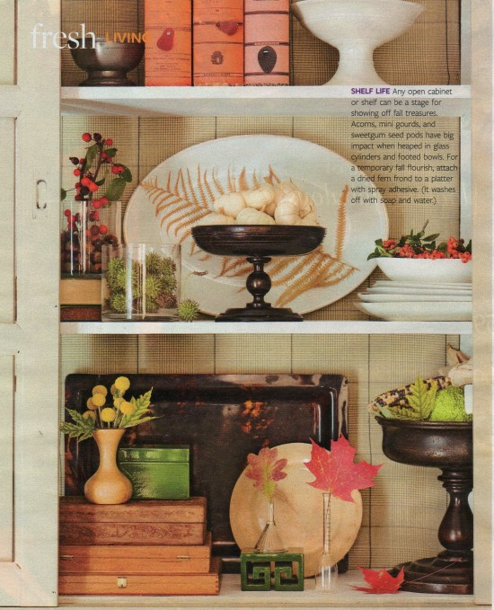 Fall Bookshelf Displays Southern Hospitality
