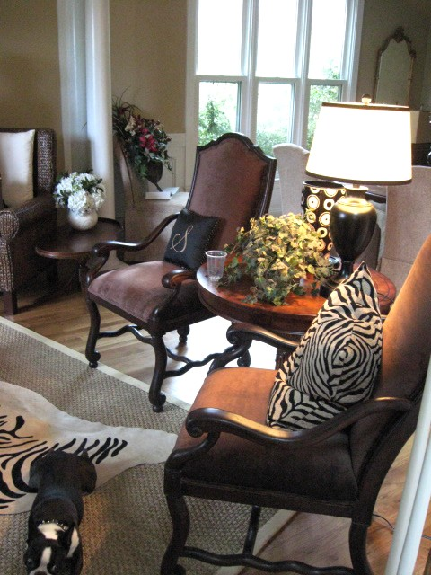These 2 Chocolate Brown Chairs Are By Drexel And She Found Them On Craigslist For 500 The Pair Not Cheap But Much Better Than New Would Have Been