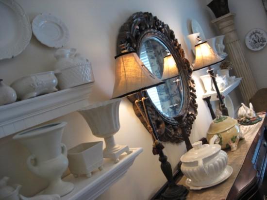 creamware shelves