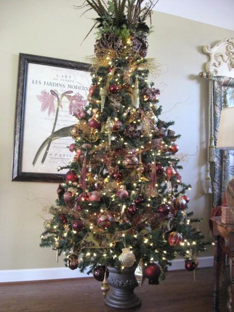 A Christmas Tree Urn Southern Hospitality