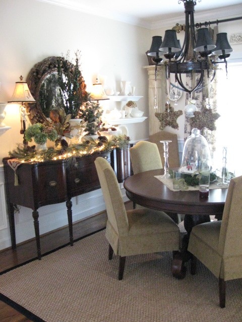 A Wintery Dining Room