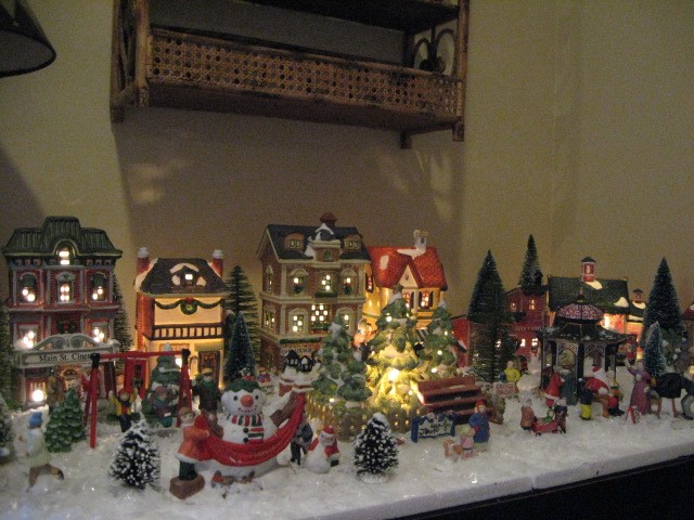 tiny christmas village southern hospitality - Christmas Town Decorations