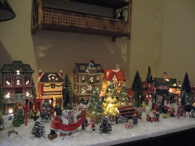 Tiny Christmas Village Southern Hospitality