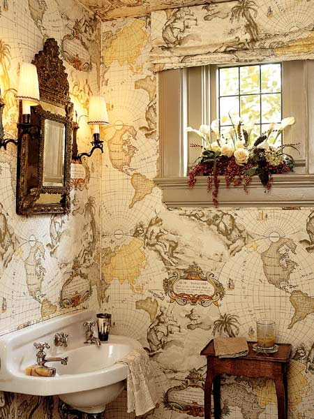small bathroom wallpaper ideas 2017 - Grasscloth Wallpaper