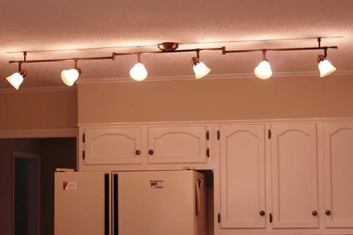 Overhead Kitchen Lighting Ideas feature friday: updating a 1980's kitchen - southern hospitality