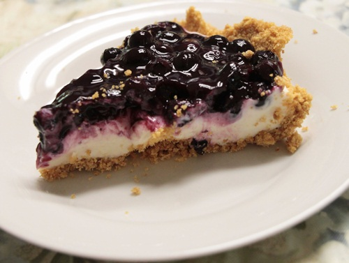 Blueberry Cream Cheese Pie - Southern Hospitality