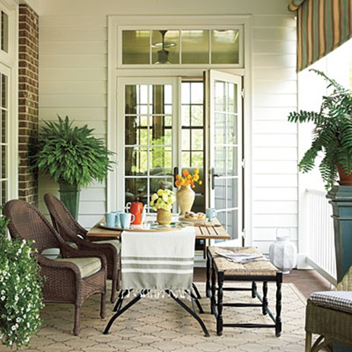 Breezy summer porches from southern living southern for Southern front porches