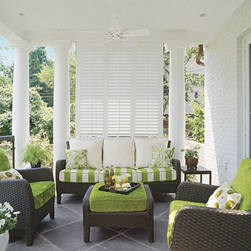 Second Home Decorating Ideas: Breezy Summer Porches From Southern Living