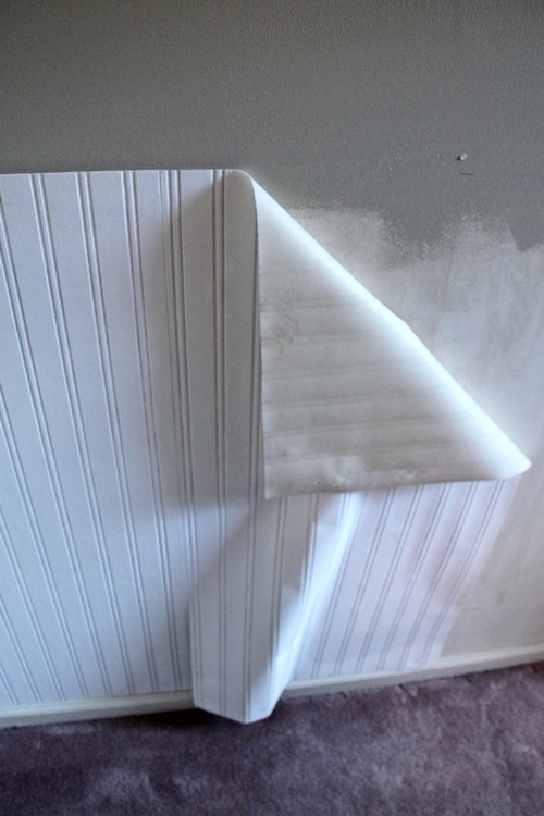 beadboard wallpaper with chairrail