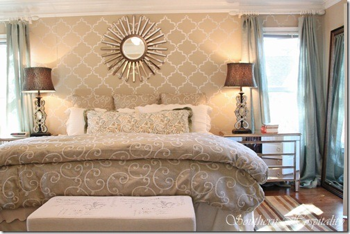 to the new century modern glam master bedroom southern hospitality