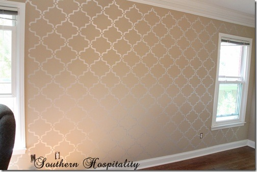 Bedroom Stencil Ideas. how to stencil a wall How Stencil Wall  Giveaway Southern Hospitality