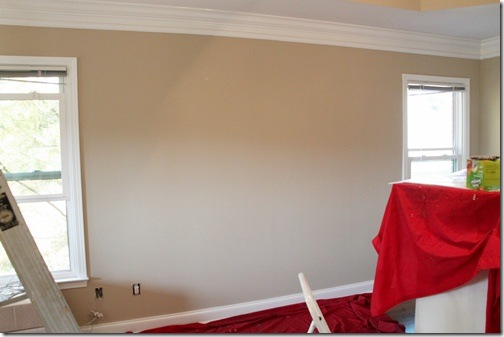 wall before