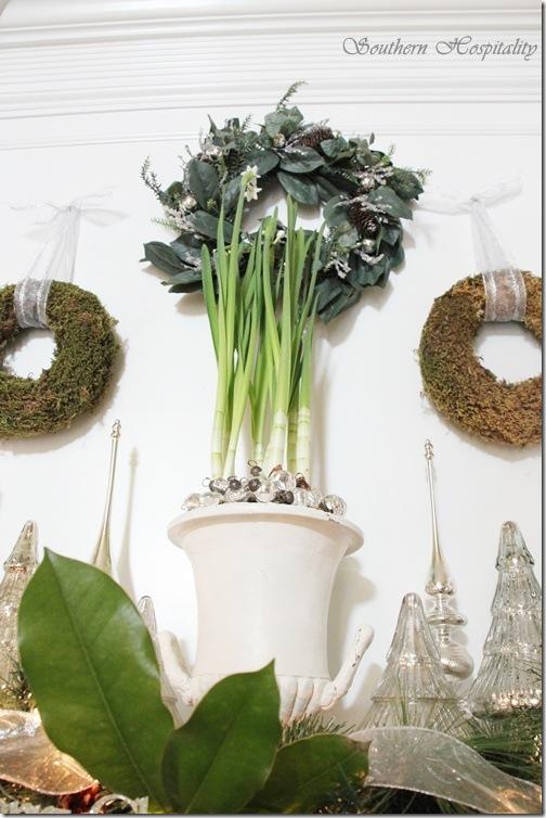 3 wreaths mantel