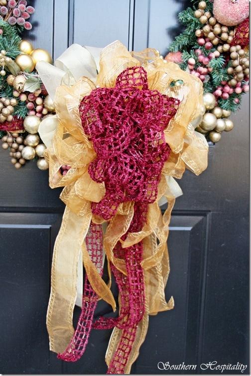 Christmas door bow