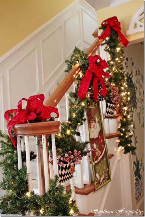 Christmas railing