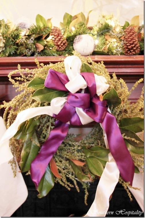 Purple wreath library