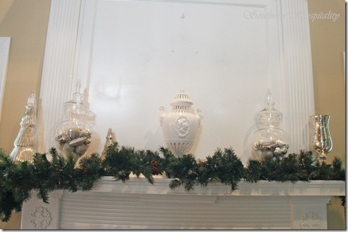 mantel in progress
