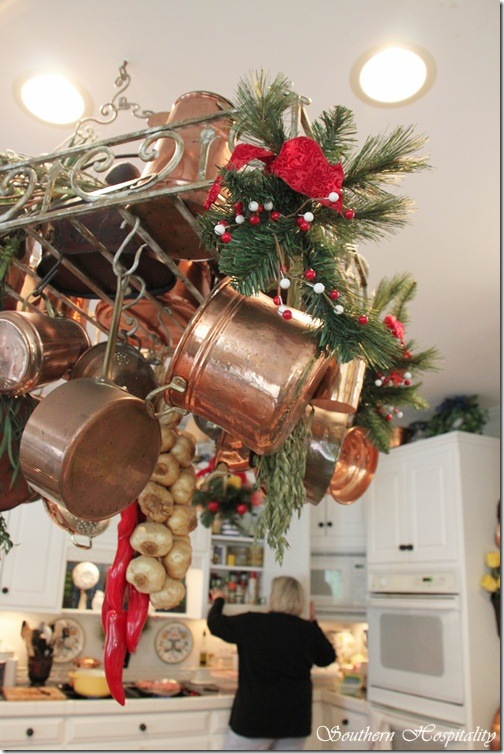 pot rack Christmas