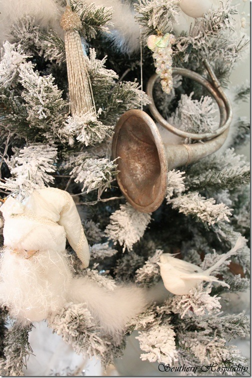 white tree ornaments