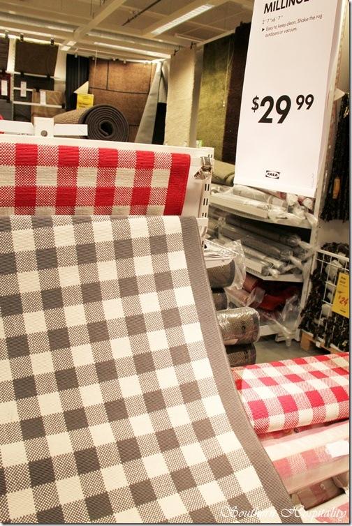Ikea check rug