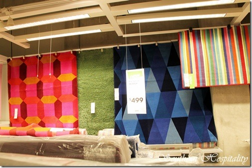 Ikea colorful rugs