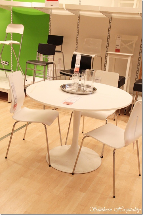 Ikea round white table