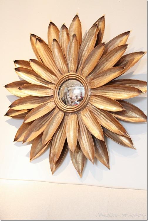 Starburst gold mirror