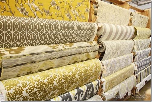 Yellow Gray fabrics