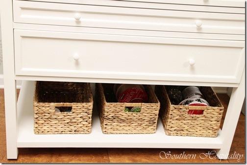 baskets under cabinet