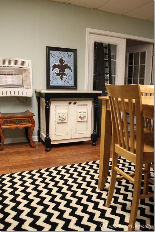 chevron rug craft room