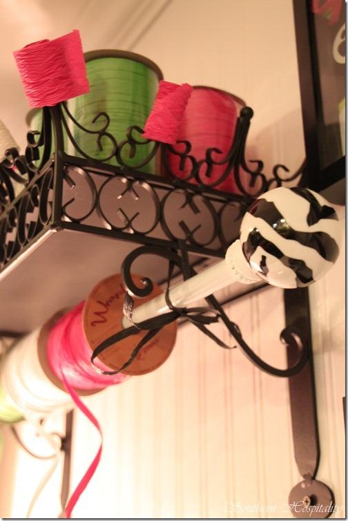 shelf ribbon storage