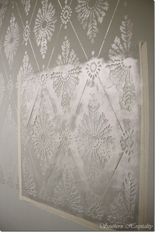 Diamond Damask Stencil How To Stencil A Wall Southern