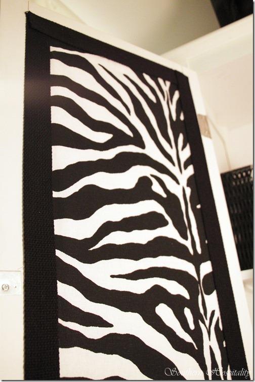 zebra door with trim