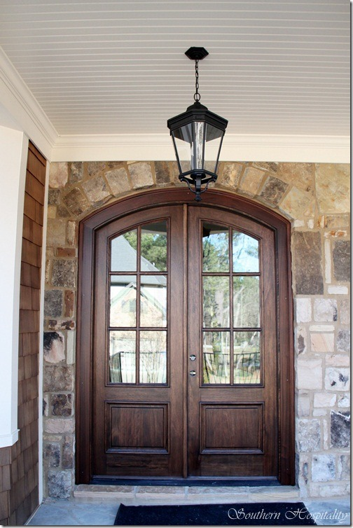 Feature friday update on the atlanta house rebuilt for Double door house entrance