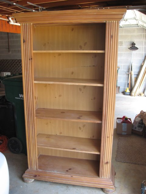 Pine bookcase before - Pine Bookcase Before - Southern Hospitality