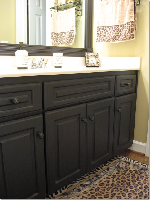 paint bathroom cabinets black updating with paint changes on the cheap southern 19841
