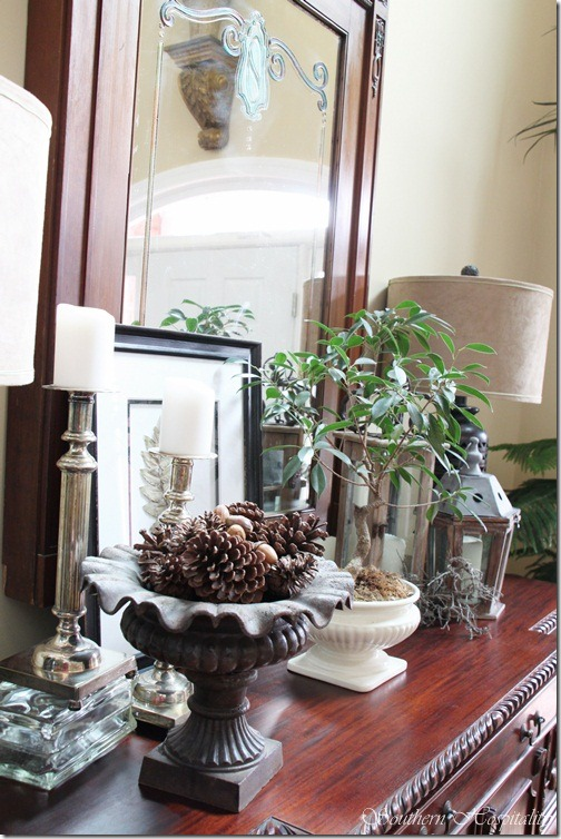 Foyer Table Vignettes : A foyer table vignette southern hospitality