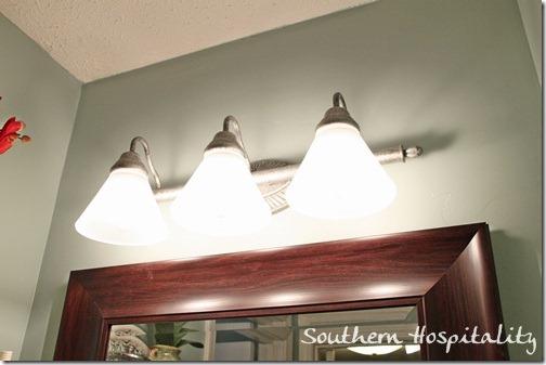 silver light fixture