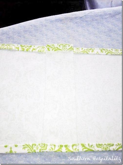 sewed bedskirt