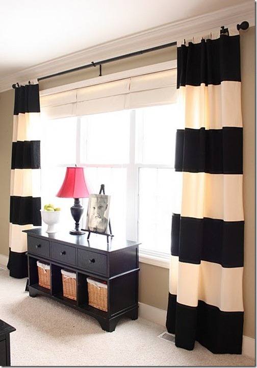 striped drapes