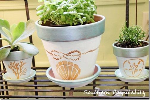 Martha Stewart painted planter