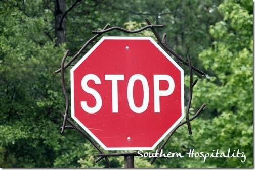 Unique stop sign