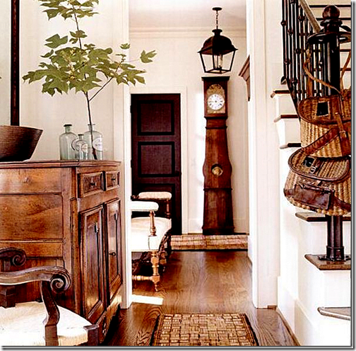 black door foyer