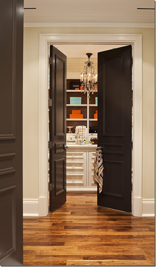 Painting interior doors black southern hospitality for Black interior paint