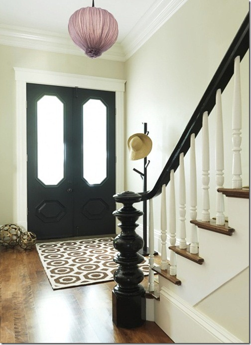 Foyer Rug Placement : Painting interior doors black southern hospitality