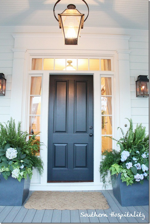 southern front doorsFeature Friday Southern Living Idea House in Senoia GA