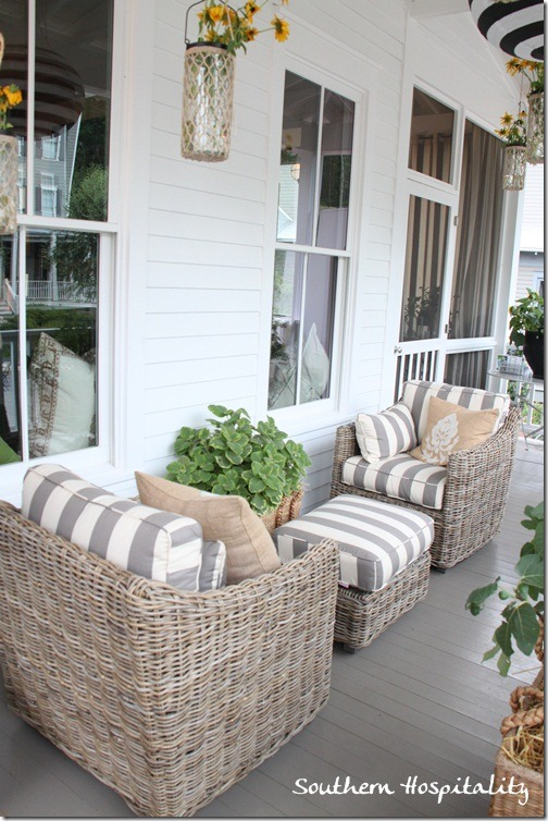 Feature friday ballard designs bosch house at serenbe for Chairs for front porch
