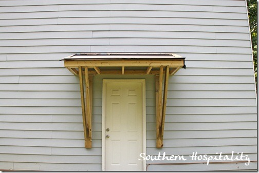House Renovations: Week 10, Building a Door Roof {or How Awesome is my Daddy?} - Southern ...