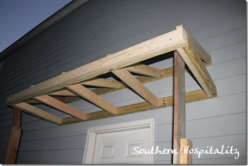 House Renovations Week 10 Building a Door Roof or How Awesome is my Daddy? - Southern Hospitality & House Renovations: Week 10 Building a Door Roof or How Awesome ...